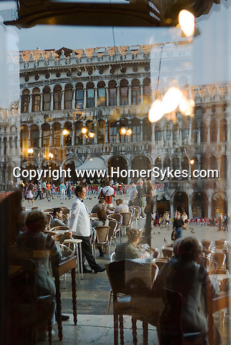 Venice Italy 2009. Cafe Florian St Marks Square. Piazza San Marco.