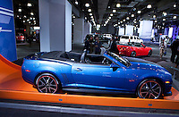 A Camaro Hot wheels  is seen  at the 2013 New York International Auto Show in New York March 27, 2013. The 113th New York International Auto Show, which runs from March 29 to April 7, features 1,000 vehicles as well the latest in tech, safety and innovation.  .VIEWpress /Kena Betancur