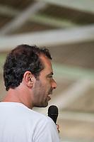 Representante do MCT Guilherme Wiedman durante o IV Encontrão  para dar continuidade a implantação do protocolo comunitário no Arquipélago do Bailique  na foz do rio Amazonas, Amapá, Brasil.Foto Paulo Santos 12/06/2015