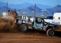 Apr 16, 2011; Surprise, AZ USA; LOORRS driver John Gaston (23) during round 3 at Speedworld Off Road Park. Mandatory Credit: Mark J. Rebilas-