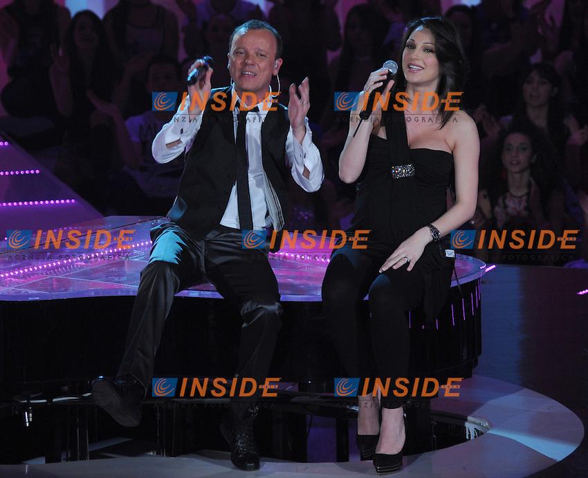 Gigi D'ALESSIO e Anna TATANGELO.Roma 11/03/2010 RAI.Seconda puntata di Gigi Questo sono io..Foto GB/Insidefoto