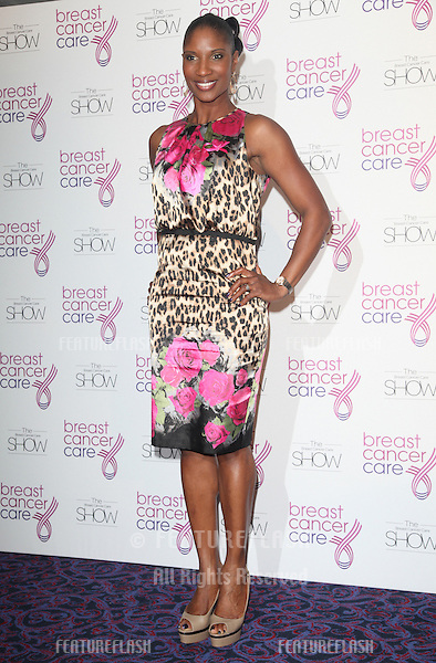 Denise Lewis arriving for the Breast Cancer Care Fashion Show, Grosvenor House Hotel, London. 02/10/2012 Picture by: Alexandra Glen / Featureflash