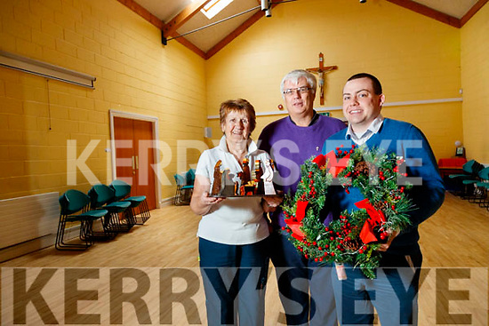 Kit Ryan (vice president St. Vincent De Paul, Tralee) Deacon Denis Kelliher and Paddy Kevane (president of St. Vincent De Paul, Tralee), pictured on Friday last at the launch of the Christmas Day lunch from 2pm, which takes place at St. John's Parish Hall.