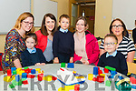 First day of school for junior infants Caoimhe O'Sullivan, Bart Potoczak, Filip Mucha and Aoife O'Sullivan (not present) at the Hollymount NS Rathmore last Thursday pictured with leaving principal Linda Dennehy, new principal Linda Galvin, Zaneta Potoczak and teacher Yvonne Kennedy.