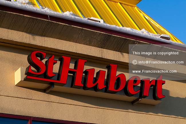 A St-Hubert restaurant is pictured December 30, 2009 in Quebec City. St-Hubert BBQ Ltd is a privately held chain of Canadian casual dining restaurants best known for its rotisserie chicken.