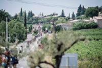 peloton approaching<br /> <br /> Stage 17: Pont du Gard to Gap(206km)<br /> 106th Tour de France 2019 (2.UWT)<br /> <br /> ©kramon