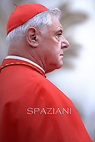 Cardinal Gerhard Ludwig Müller.Pope Francis  during a Corpus Domini procession between the basilicas San Giovanni in Laterano and Santa Maria Maggiore on in Rome.19 june 2014