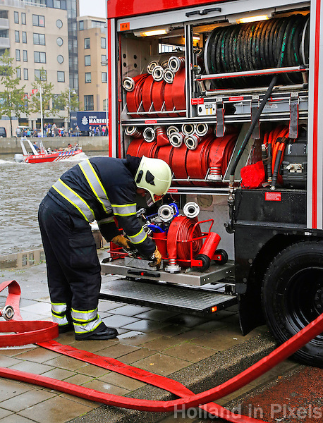 Brandweer demonstratie tijdens Alkmaar Ontzet