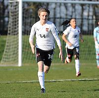 U19 Belgian Red Flames - Austria :<br /> <br /> Valentina Schwarzlm&uuml;ller<br /> <br /> foto Dirk Vuylsteke / Nikonpro.be