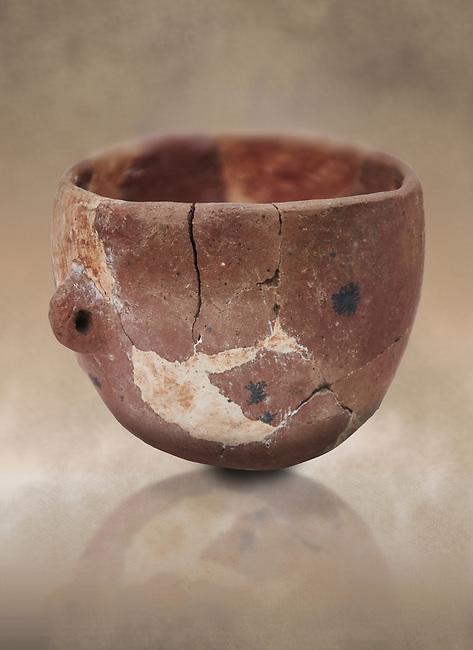 Neolithic terracotta bowl. Catalhoyuk collection, Konya Archaeological Museum, Turkey