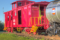 Frisco Caboose 1157 at the Route 66 Village in Tulsa Oklahoma.