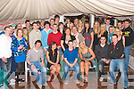 9477-9486.KEY TO THE DOOR: Dale Counihan, Currovough South, Tralee (seated centre) celebrated his 21st birthday last Friday night with a massive garden marquee bash at his home with his parents Christie & Geraldine, brother Alan, sister Lorraine and many friends and family.