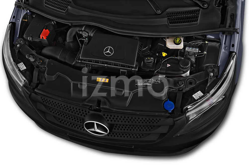 Car Stock 2017 Mercedes Benz Vito-Tourer Pro 4 Door Combi Engine  high angle detail view