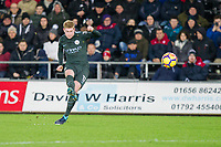 Kevin De Bruyne of Manchester City takes a free kick during the EPL - Premier League match between Swansea City and Manchester City at the Liberty Stadium, Swansea, Wales on 13 December 2017. Photo by Mark  Hawkins / PRiME Media Images.