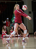 STANFORD, CA - November 3, 2018: Kate Formico at Maples Pavilion. No. 1 Stanford Cardinal defeated No. 15 Colorado Buffaloes 3-2.