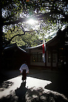 Tokyo, November 15th 2010 - A priest at Meiji-Jingu temple.