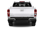 Straight rear view of a 2015 Isuzu D-Max LSX 4 Door Pickup 2WD Rear View  stock images