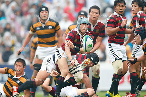 Hayato NIshibashi (Waseda), NOVEMBER 23, 2012 - Rugby : Kanto Intercollegiate Rugby Games match between Waseda University 31-10 Keio University at Chichibunomiya Rugby Stadium, Tokyo, Japan. (Photo by AFLO SPORT) [1156]