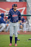 Antonio Pinero (3) of the Rocky Mountain Vibes before the game against the Ogden Raptors at Lindquist Field on July 4, 2019 in Ogden, Utah. The Raptors defeated the Vibes 4-2. (Stephen Smith/Four Seam Images)