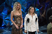 Jodi Foster and Jennifer Lawrence present the Oscar&reg; for best actress in a leading role during the live ABC Telecast of the 90th Oscars&reg; at the Dolby&reg; Theatre in Hollywood, CA on Sunday, March 4, 2018.<br /> *Editorial Use Only*<br /> CAP/PLF/AMPAS<br /> Supplied by Capital Pictures