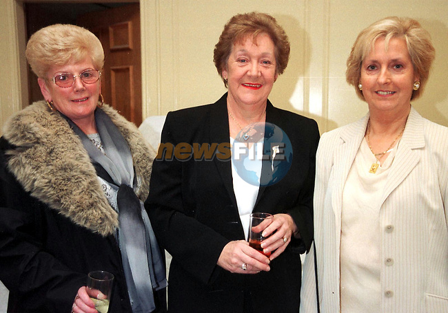 Rita Milne Ballsgrove, Peggy McLoughlin Annivelle Crescent and Patty Murphy at the Premier Christmas party.Pic Fran Caffrey Newsfile.Please Byline