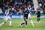 Lucas Vazquez (2nd from left) of Real Madrid battles for the ball with David Timor Copovi of Deportivo Leganes during their La Liga match between Deportivo Leganes and Real Madrid at the Estadio Municipal Butarque on 05 April 2017 in Madrid, Spain. Photo by Diego Gonzalez Souto / Power Sport Images