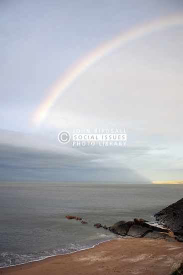 Rainbow, New Quay, Ceredigion, Wales