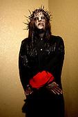 (#1) Joey Jordison – drums , Slipknot Studio Portrait Session In Desmoines Iowa.Photo Credit: Eddie Malluk/Atlas Icons.com