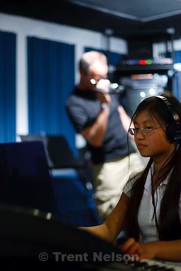 Noah's class recording in a studio. bruce granath, ruyan zhang
