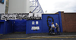 A disabled supporter makes his way to the Everton's Goodison stadium<br /> - Barclays Premier League - Everton vs Leicester City - Goodison Park - Liverpool - England - 19th December 2015 - Pic Robin Parker/Sportimage