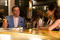 Rowan Atkinson as Johnny English and Olga Kurylenko as Ophelia star in Johnny English Strikes Again (2018)<br /> *Filmstill - Editorial Use Only*<br /> CAP/RFS<br /> Image supplied by Capital Pictures