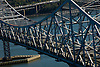 Aerial view of the Tappan Zee Bridge over the Hudson River