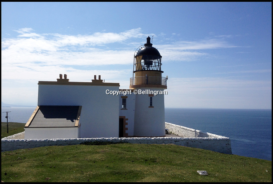 BNPS.co.uk (01202 558833)<br /> Pic: BellIngram/BNPS<br /> <br /> What a treasure...<br /> <br /> A remote and picturesque lighthouse designed by Treasure Island author Robert Louis Stevenson's father is on the market for offers over &pound;371,500.<br /> <br /> Stoer Lighthouse in Sutherland, Scotland, is the ultimate retreat, nestled on one of the furthest most peninsulas of Assynt, and has incredible views looking out across the Outer Hebrides.<br /> <br /> The former lighthouse keeper's accommodation is currently split into two flats but estate agents Bell Ingram say it could be converted into one stunning larger home. <br /> <br /> The lighthouse still operates so any new owner will have to be okay with the regular flashing light visible through their window.