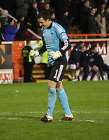 Jamie Langfield after the injury time equaliser in the Aberdeen v St Mirren Scottish Communities League Cup match played at Pittodrie Stadium, Aberdeen on 30.10.12.