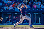2 March 2019: Minnesota Twins catcher Wynston Sawyer at bat during a Spring Training game against the Washington Nationals at the Ballpark of the Palm Beaches in West Palm Beach, Florida. The Twins fell to the Nationals 10-6 in Grapefruit League play. Mandatory Credit: Ed Wolfstein Photo *** RAW (NEF) Image File Available ***