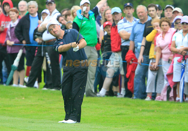 Damien McGrane plays his 2nd shot on the 15th hole during Day 2 of the 3 Irish Open at the Killarney Golf & Fishing Club, 30th July 2010..(Picture Eoin Clarke/www.golffile.ie)