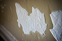 Damaged wall and plaster in a home in New York on Saturday, September 13, 2014.  (© Richard B. Levine)