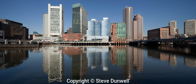 Fort Point Channel, with Intercontinental Hotel, Boston, MA pano