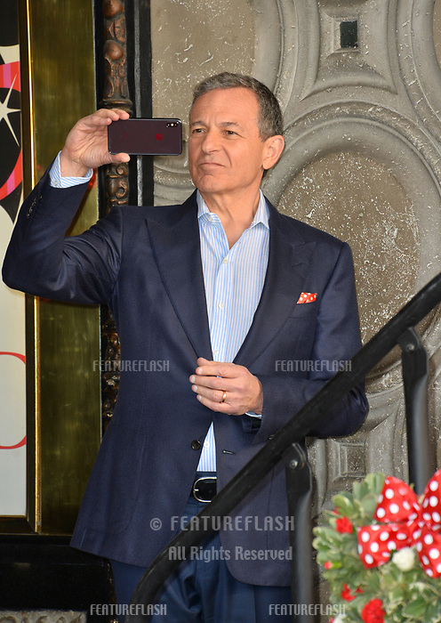 Robert A. Iger at the Hollywood Walk of Fame Star Ceremony honoring Disney character Minnie Mouse, Los Angeles, USA 22 Jan. 2018<br /> Picture: Paul Smith/Featureflash/SilverHub 0208 004 5359 sales@silverhubmedia.com