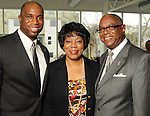 From left: John Guess IV, Carolyn Guess and John Guess III at a luncheon at the Houston Museum of African American Cuture Wednesday  March 10,2010. (Dave Rossman Photo)