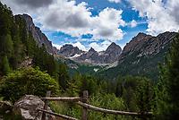 Oesterreich, Osttirol, Pustertal, Pustertaler Hoehenstrasse, bei Lienz:  Lienzer Dolomiten | Austria, East-Tyrol, Puster Valley, near Lienz: Lienz Dolomites