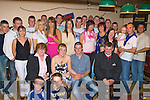 Paudie Griffin Knocknagoshel seated centre celebrates her 21st birthday with his family and friends in Hickey's bar, Knocknagoshel on Friday night..