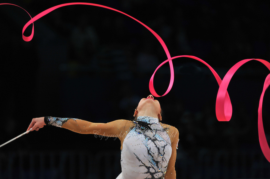 "ANNA GURBANOVA of Azerbaijan performs at 2011 World Cup Kiev, ""Deriugina Cup"" in Kiev, Ukraine on May 7, 2011."