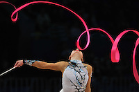 "ANNA GURBANOVA of Azerbaijan performs at 2011 World Cup Kiev, ""Deriugina Cup"" in Kiev, Ukraine on May 7, 2011."