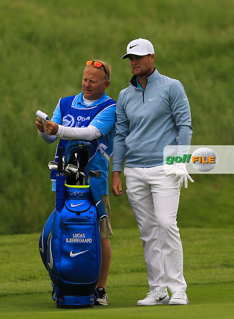 Lucas Bjerregaard (DEN) on the 9th fairway during Round 1 of the 100th Open de France, played at Le Golf National, Guyancourt, Paris, France. 30/06/2016. <br /> Picture: Thos Caffrey | Golffile<br /> <br /> All photos usage must carry mandatory copyright credit   (&copy; Golffile | Thos Caffrey)