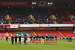 The sides take part in a minutes applause - Sheffield United vs Coventry City - SkyBet League One - Bramall Lane - Sheffield - 13/12/2015 Pic Philip Oldham/SportImage