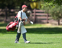 Stanford, Ca - Thursday, May 18, 2012: Stanford Golf plays in the NCAA Regionals held at the Stanford Golf Course. David Chung