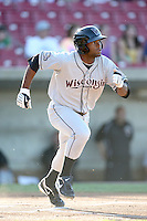 May 27, 2010: D' Vontrey Richardson (9) of the Wisconsin Timber Rattlers at Elfstrom Stadium in Geneva, IL. The Timber Rattlers are the Midwest League Class A affiliate of the Milwaukee Brewers. Photo by: Chris Proctor/Four Seam Images