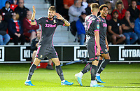 Leeds United's Mateusz Klich celebrates scoring his side's third goal<br /> <br /> Photographer Alex Dodd/CameraSport<br /> <br /> The Carabao Cup First Round - Salford City v Leeds United - Tuesday 13th August 2019 - Moor Lane - Salford<br />  <br /> World Copyright © 2019 CameraSport. All rights reserved. 43 Linden Ave. Countesthorpe. Leicester. England. LE8 5PG - Tel: +44 (0) 116 277 4147 - admin@camerasport.com - www.camerasport.com
