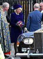 Prince Charles, Camilla Duchess of Cornwall at Commonwealth Day Observance Service, an annual multi-faith service in celebration of the Commonwealth, at Westminster Abbey, London, England on March 11, 2019.<br /> CAP/JOR<br /> &copy;JOR/Capital Pictures